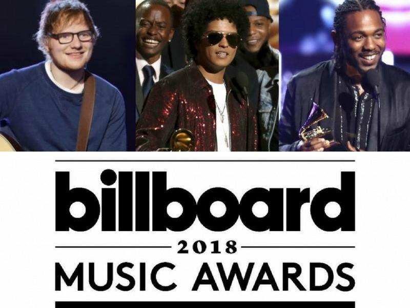 Bruno Mars, Ed Sheeran & Kendrick Lamar Dapat Pencalonan Terbanyak Di 2018 Billboard Music Awards