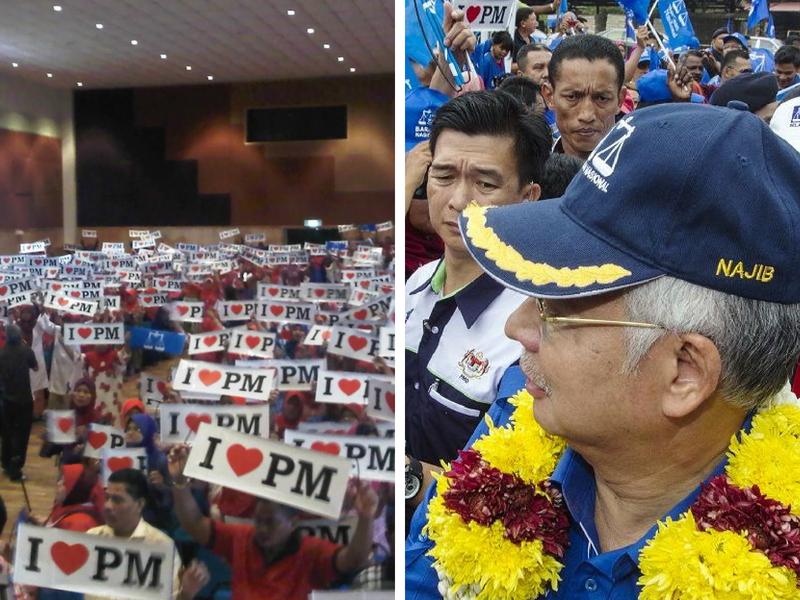 """Kisah Di Sebalik Penyokong BN Pegang Placard """"I Love PM"""",  Bekas Pegawai GLC Kongsi Pengalaman, Tak Sangka…"""
