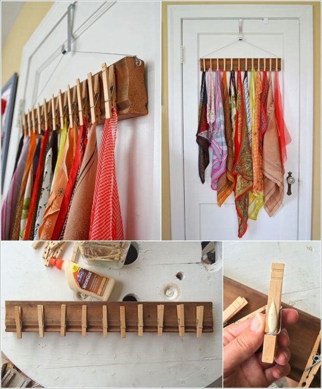 Kalau Korang Kreatif Lakukan Diy Penyepit Baju Yang Digam Pada Permukaan Papan Kayu Untuk Dijadikan Sebagai Penyangkut Hijab Pastikan Guna Gam Kuat