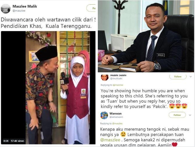 Netizen Terharu Dengan Menteri Pendidikan Membahasakan Dirinya 'Pak Cik' Ketika Di Temu Bual Pelajar Sekolah Pendidikan Khas
