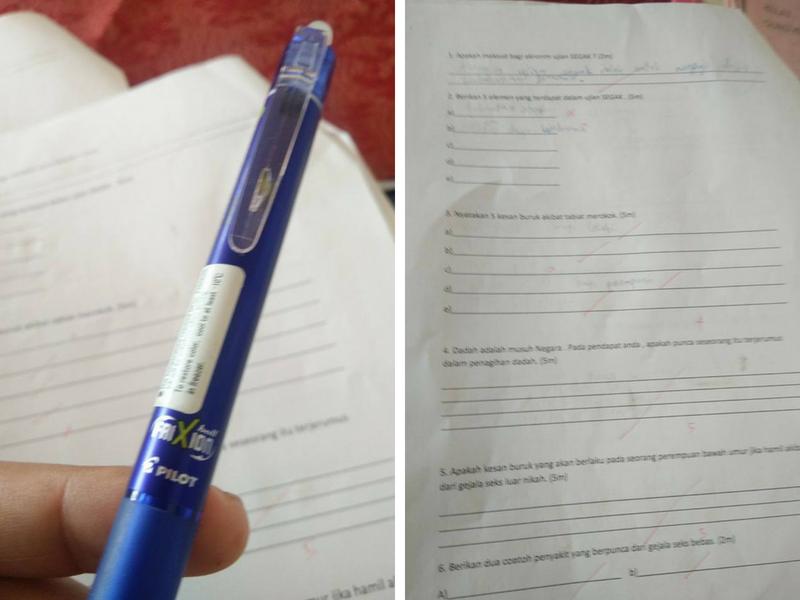 Cikgu Larang Pelajar Guna Pen Jenama Ini Untuk Jawab Exam
