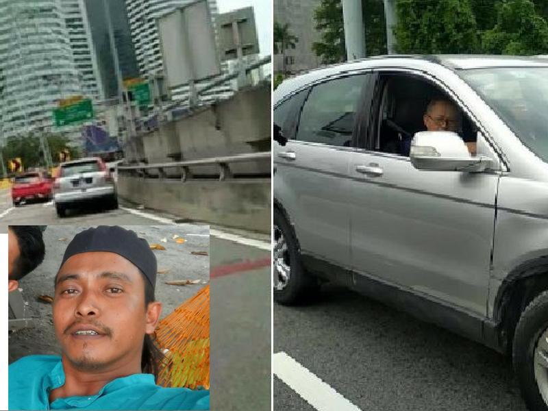 """Cemas Giler, Diri Hampir Kena Langgar…""Lelaki Rakam Video Uncle Di Federal Highway Kongsi KISAH SEBENAR"