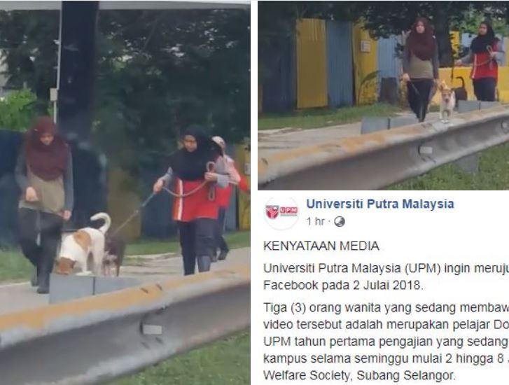 Rupanya 3 Wanita Bawa Anjing Yang Tular Adalah Pelajar Veterinar, UPM Tampil Beri Penjelasan