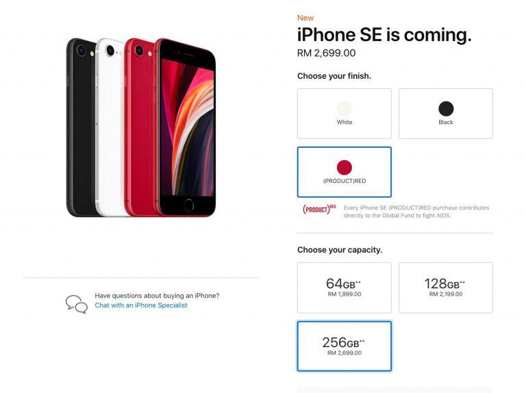 Apple Lancar iPhone SE 2020 Dengan Harga Bermula RM1,999 ...